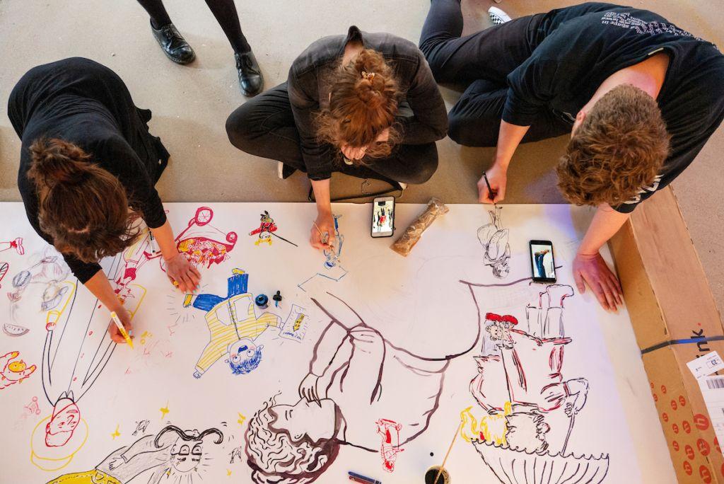 Workshop tijdens festival Utrecht Tekent